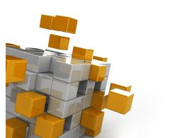 Yellow And White Cubes For Business Process Display Stock Photo