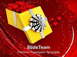 Yellow Box Full Of Chocolates PowerPoint Templates PPT Themes And Graphics 0213