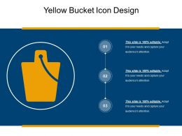 Yellow Bucket Icon Design
