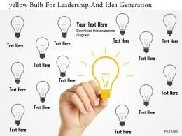 Yellow Bulb For Leadership And Idea Generation Flat Powerpoint Design