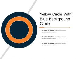 Yellow Circle With Blue Background Circle
