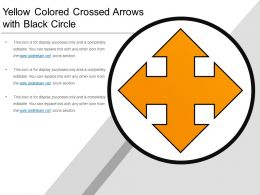 Yellow Colored Crossed Arrows With Black Circle
