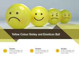 Yellow Colour Smiley And Emoticon Ball