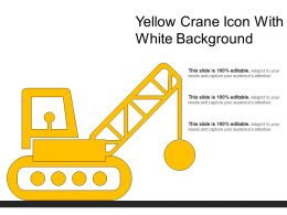 Yellow Crane Icon With White Background