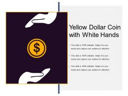Yellow Dollar Coin With White Hands