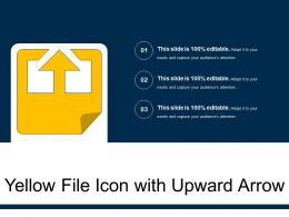 Yellow File Icon With Upward Arrow