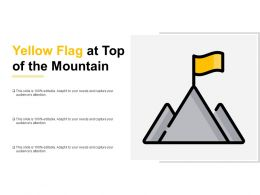Yellow Flag At Top Of The Mountain