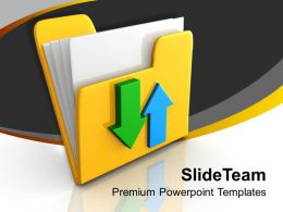 Yellow Folder And Arrow Download Data Powerpoint Templates Ppt Themes And Graphics 0113