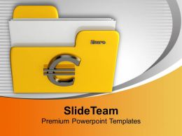 Yellow Folder With Euro Sign Computer Powerpoint Templates Ppt Themes And Graphics 0113