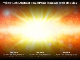 Yellow Light Abstract Powerpoint Template With All Slides