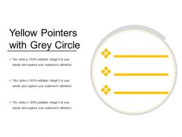 Yellow Pointers With Grey Circle