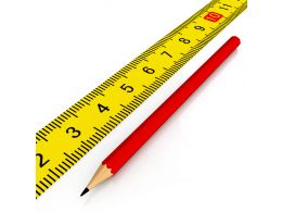 Yellow Scale With Red Pencil For Engineering Stock Photo