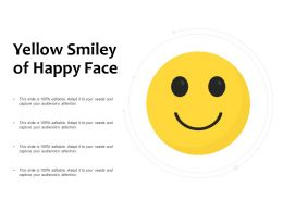 Yellow Smiley Of Happy Face