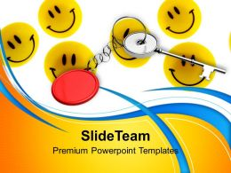 Yellow Smileys With Key Chain PowerPoint Templates PPT Themes And Graphics 0213