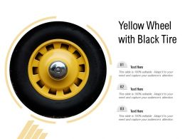 Yellow Wheel With Black Tire