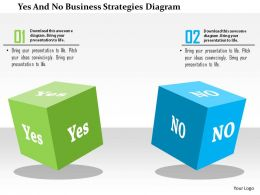 Yes And No Business Strategies Diagram Flat Powerpoint Design
