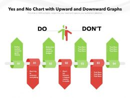 Yes And No Chart With Upward And Downward Graphs
