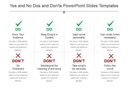 Yes And No Dos And Donts Powerpoint Slides Templates