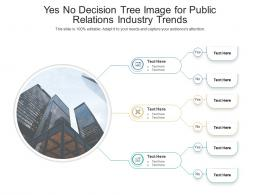 Yes No Decision Tree Image For Public Relations Industry Trends Infographic Template