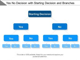 Yes No Decision With Starting Decision And Branches