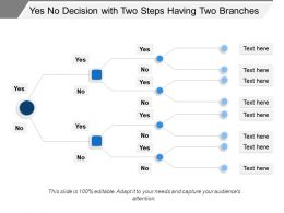 Yes No Decision With Two Steps Having Two Branches