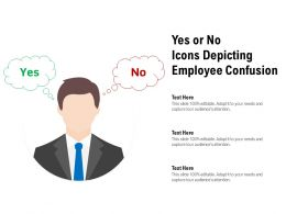 Yes Or No Icons Depicting Employee Confusion