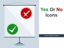 Yes Or No Icons Employee Marking Charts Rotating Switch Board Confusion