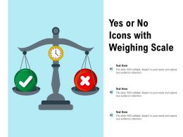 Yes Or No Icons With Weighing Scale