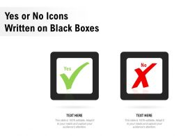 Yes Or No Icons Written On Black Boxes