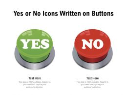 Yes Or No Icons Written On Buttons