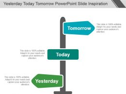 Yesterday Today Tomorrow Powerpoint Slide Inspiration