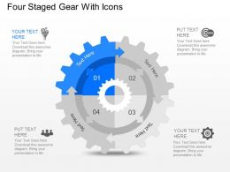 Yf Four Staged Gear With Icons Powerpoint Template