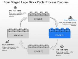 yh_four_staged_lego_block_cycle_process_diagram_powerpoint_template_Slide01