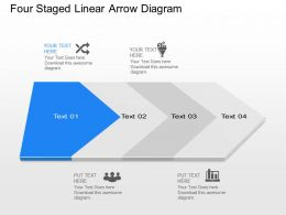 Yi Four Staged Linear Arrow Diagram Powerpoint Template