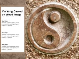 Yin Yang Carved On Wood Image