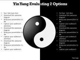 yin yang evaluating 2 options editable powerpoint templates infographics images 21