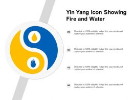 Yin Yang Icon Showing Fire And Water