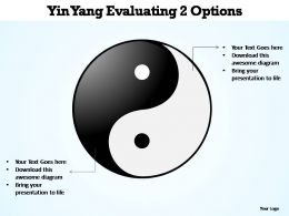 ying yang evaluating 2 options editable powerpoint templates