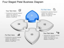 Ym Four Staged Petal Business Diagram Powerpoint Template