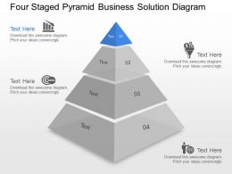 Yn Four Staged Pyramid Business Solution Diagram Powerpoint Template