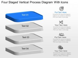 Yo Four Staged Vertical Process Diagram With Icons Powerpoint Template