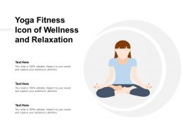 Yoga Fitness Icon Of Wellness And Relaxation