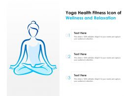 Yoga Health Fitness Icon Of Wellness And Relaxation