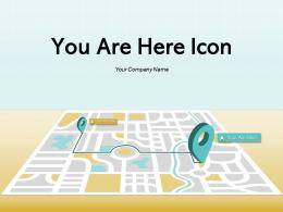 You Are Here Icon Arrows Demonstrated Individual Illustrated Represented Through Location