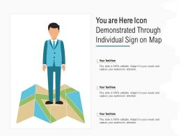 You Are Here Icon Demonstrated Through Individual Sign On Map