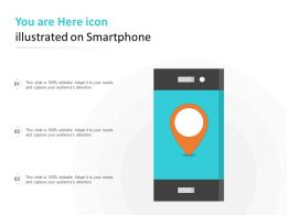 You Are Here Icon Illustrated On Smartphone