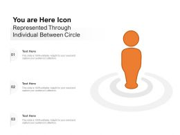 You Are Here Icon Represented Through Individual Between Circle