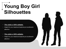 Young Boy Girl Silhouette Powerpoint Templates