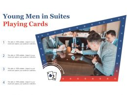 Young Men In Suites Playing Cards