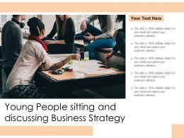 Young People Sitting And Discussing Business Strategy